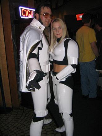 Sexy female stormtrooper costume