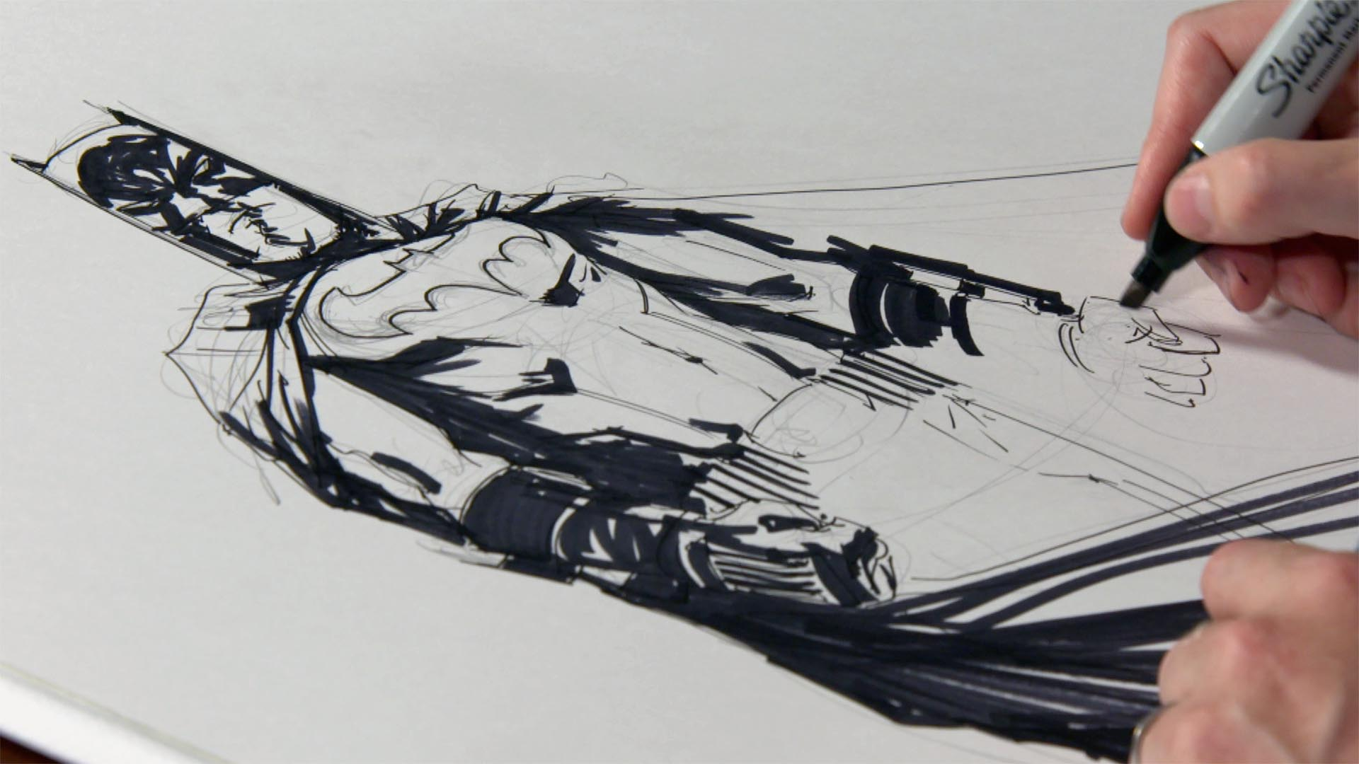 watch dc artist jock sketches batman dc artist jock sketches batman syfy wire