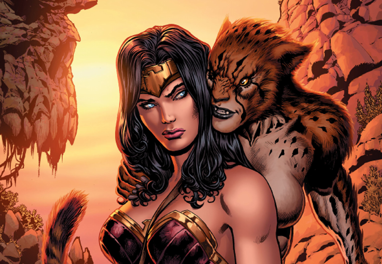 Wonder Woman and Cheetah