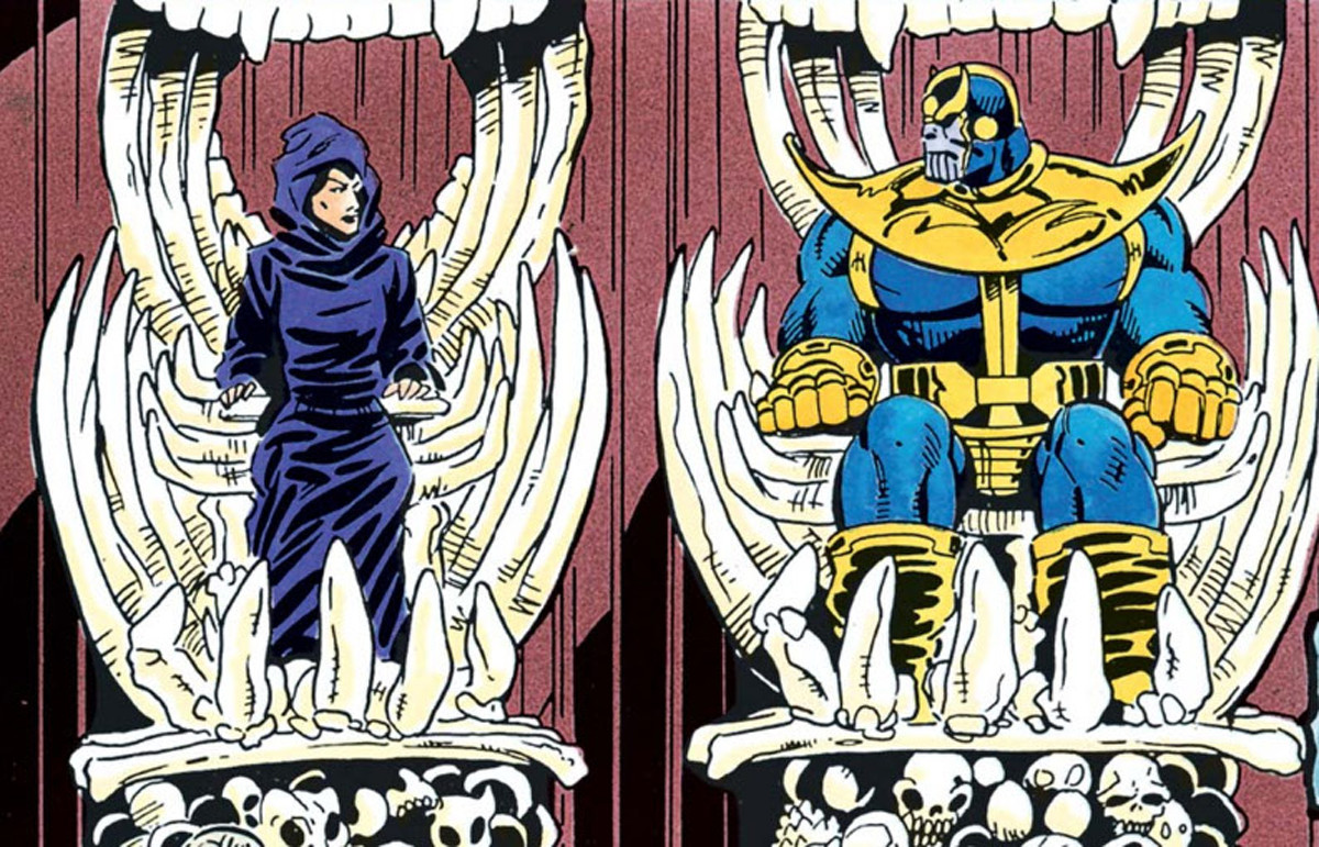The bizarre comic book love story of Thanos and Death | SYFY