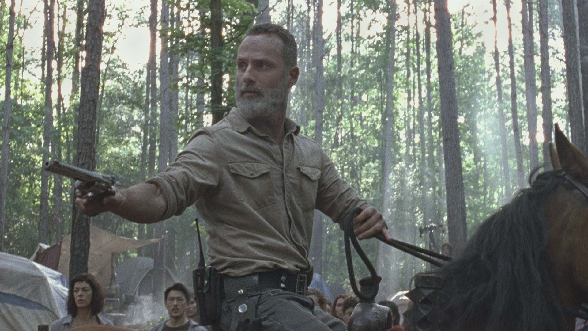 Rick Grimes Frightened Horse Prompts Hilarious Responses From The