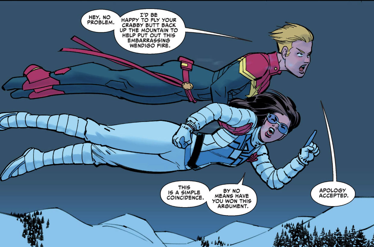 Jessica Drew and Carol Danvers: best friends through thick and thin