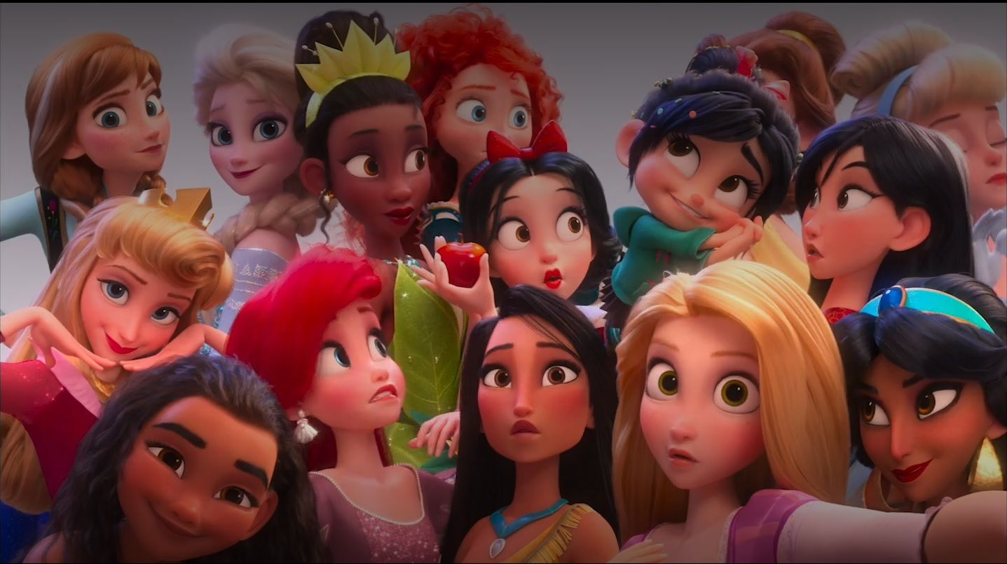 all the disney princesses together