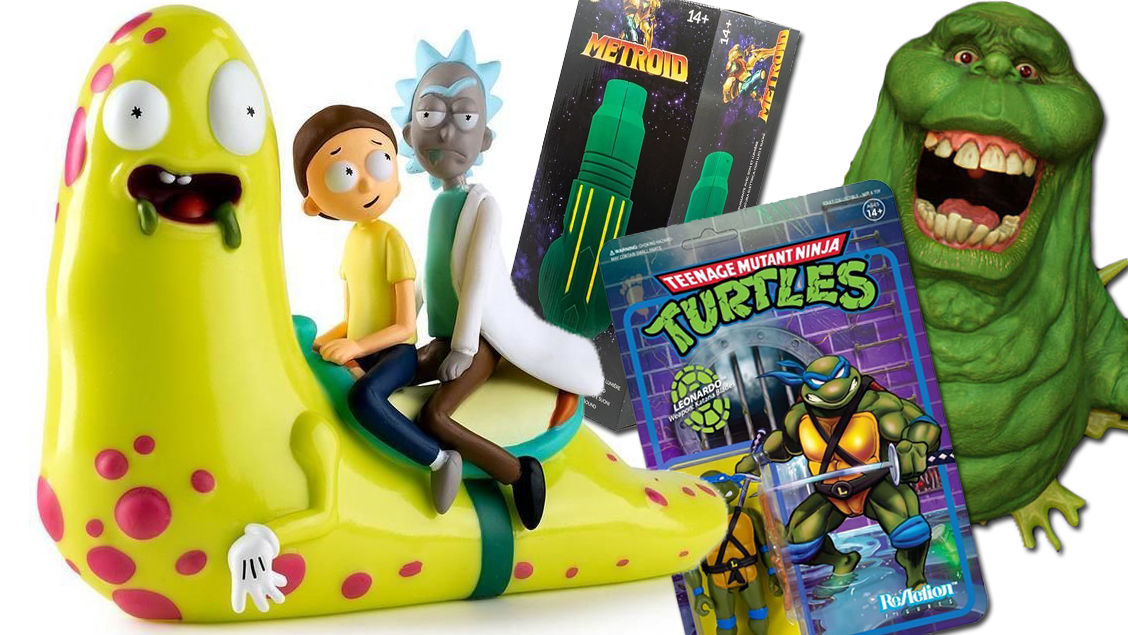 Important Toy News: Rick and Morty slide by while Slimer busts through your wall
