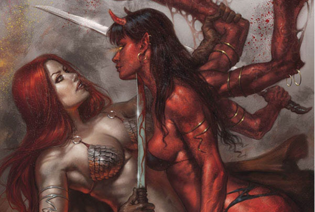 Inhuman evil invades the Hyborian Age in Dynamite's Red Sonja: Age of Chaos #1
