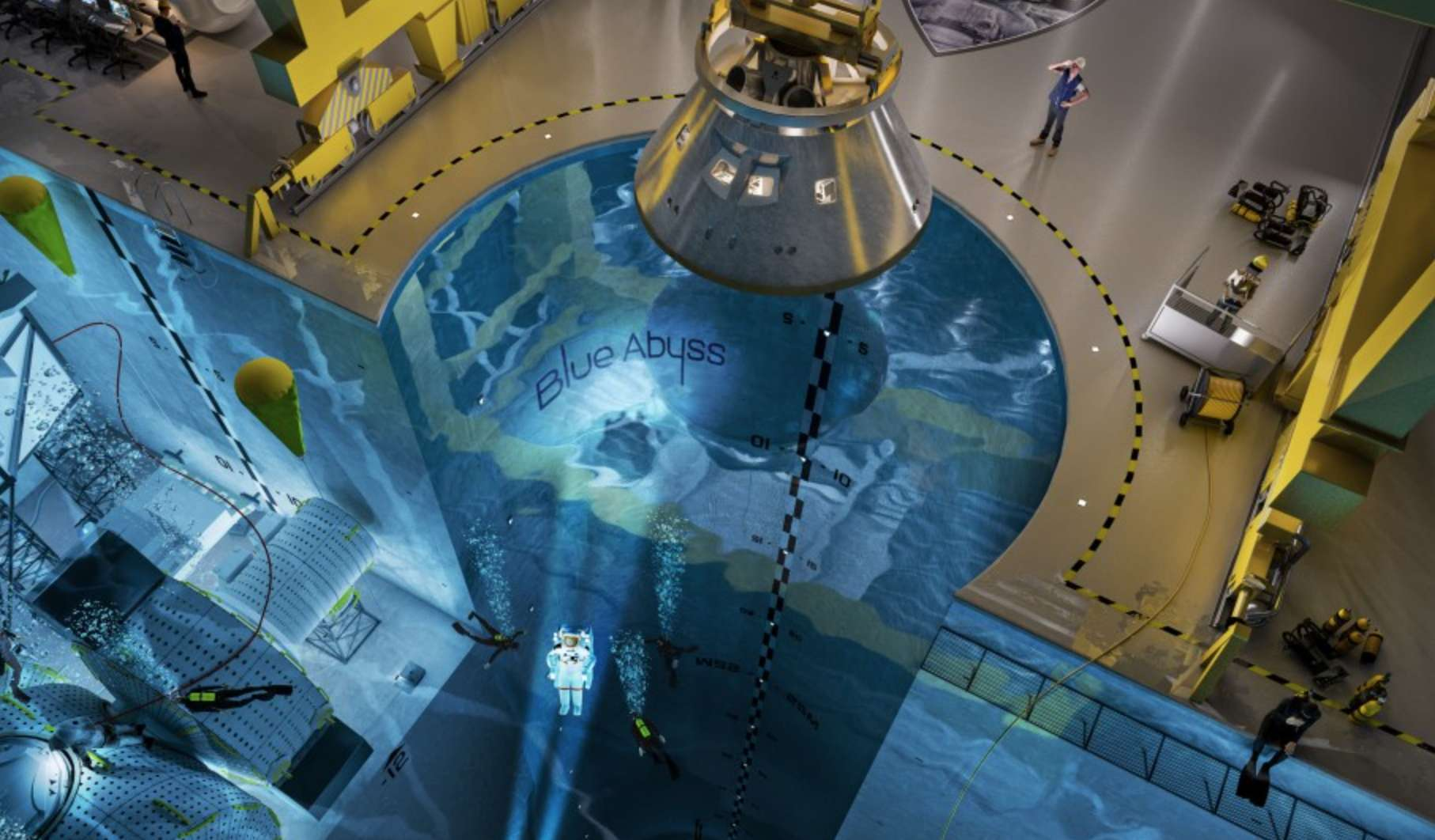 Take the plunge! England's Blue Abyss training pool will be the world's deepest