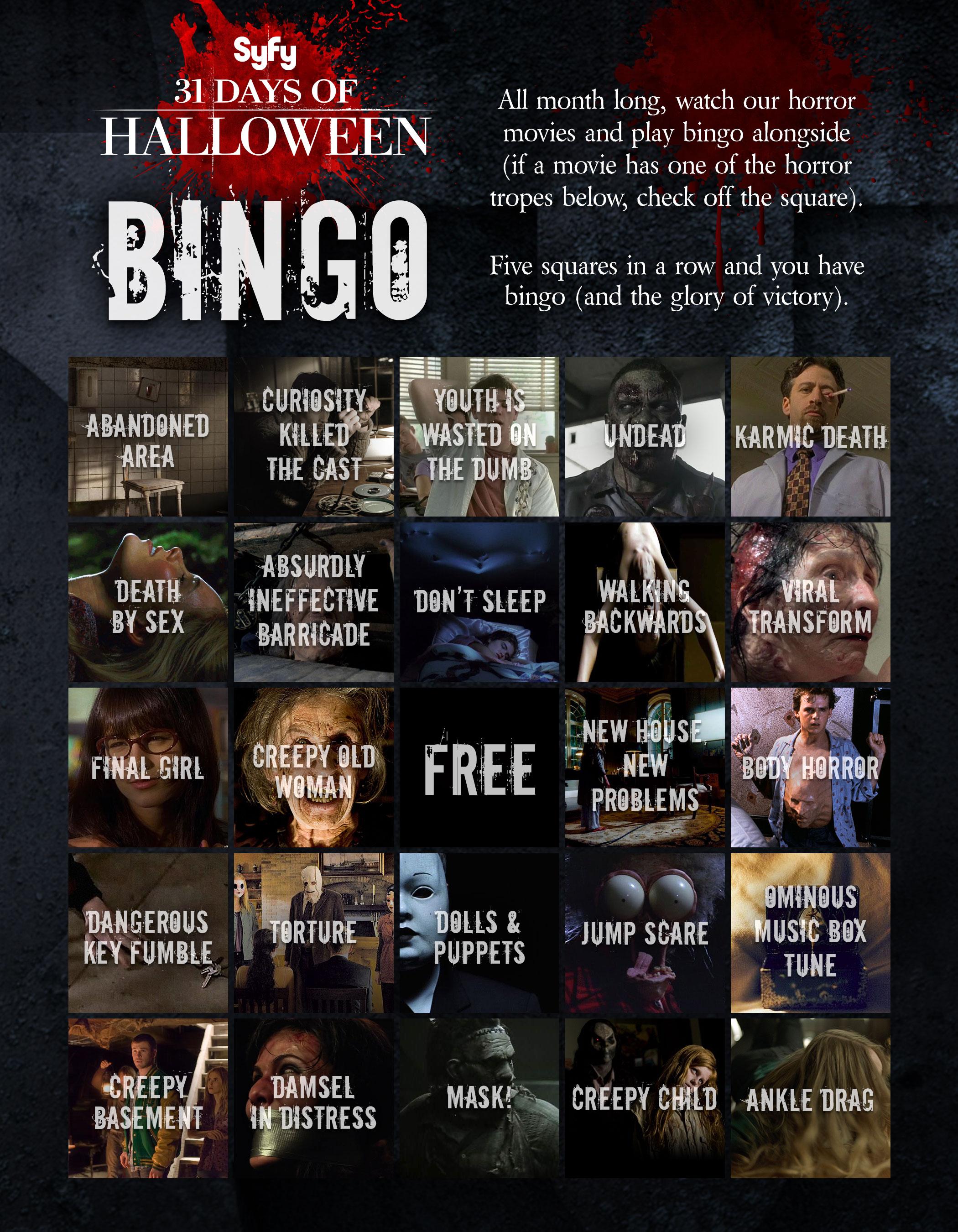 Syfy Shows 2020 31 Days Of Halloween 31 Nights of Bingo – 31 Days of Halloween News | SYFY