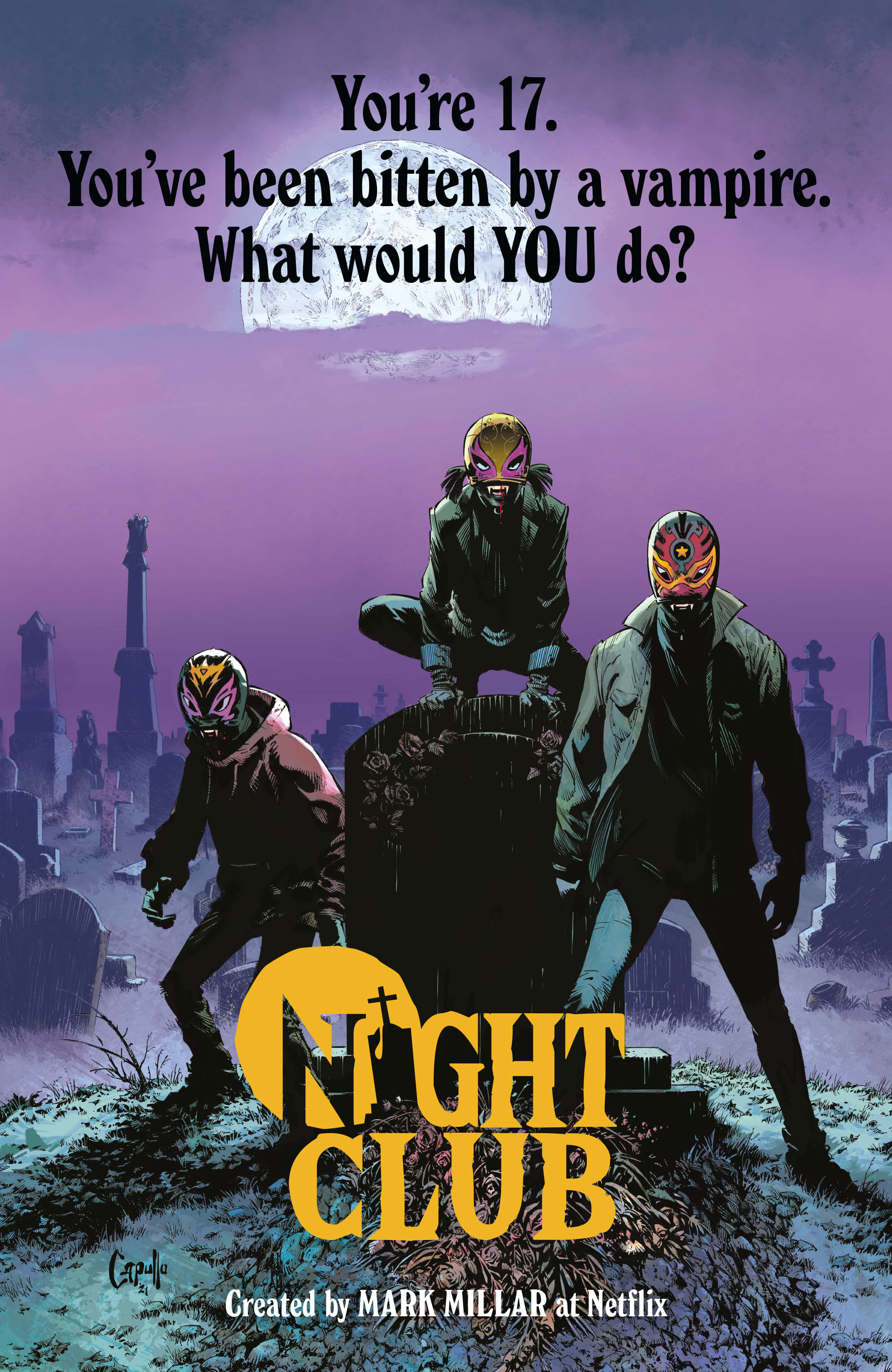 Series Reveal: Meet the teen vampire superheroes of Mark Millar's next Netflix project 'Night Club'