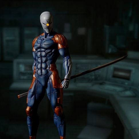 gecco metal gear solid cyborg ninja statue