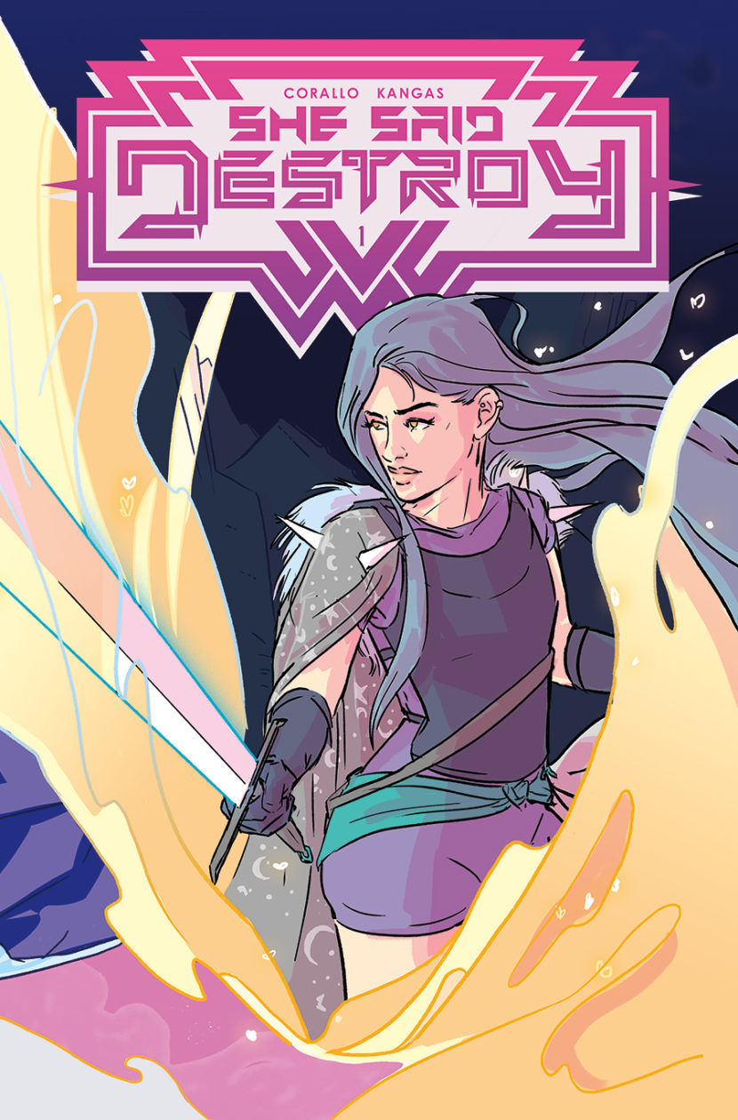 She Said Destroy cover, Vault Comics