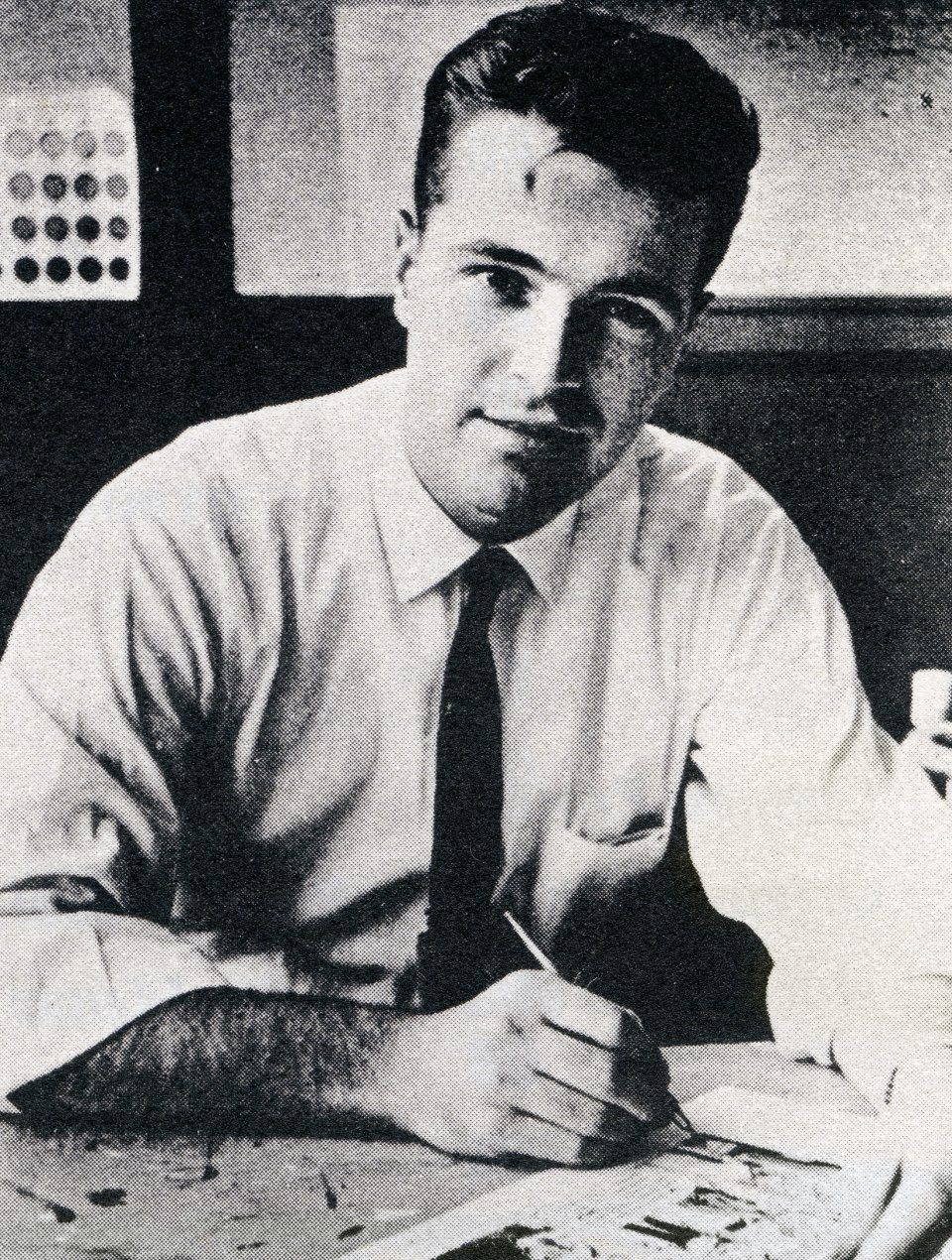 Neal Adams at work at DC Comics in the 1960's. (Courtesy Photo via Taschen)