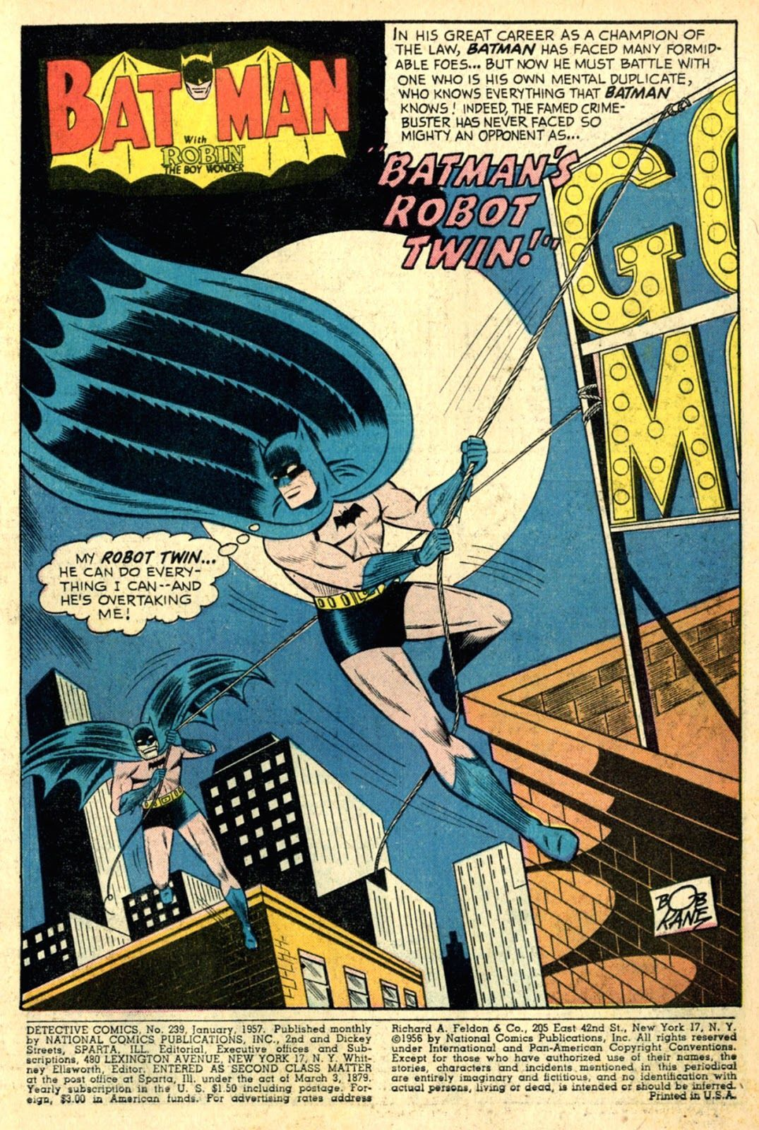 Detective Comics #239 (Writers: Jack Schiff Artists: Sheldon Moldoff, Charles Paris, Jack Adler, Ira Schnapp)