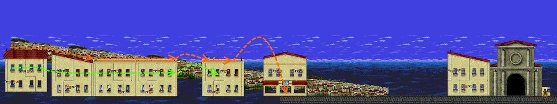 Aquaman 16-bit animation map