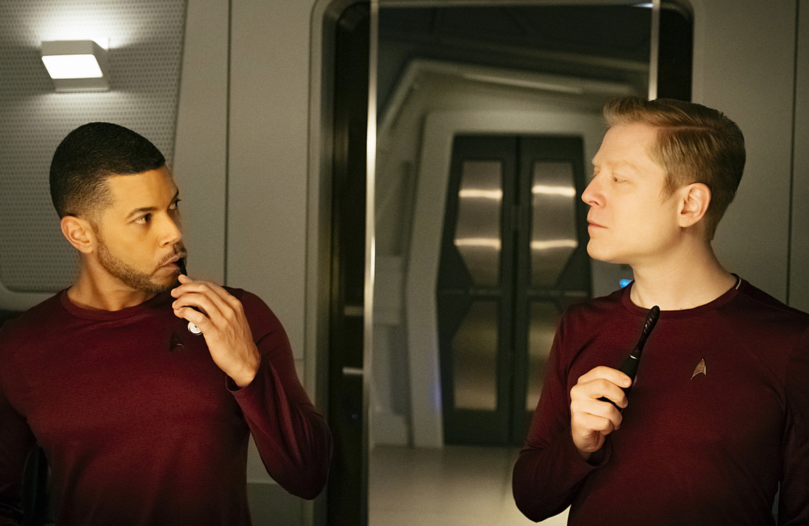 Hugh Culber and Paul Stamets Star Trek Diiscovery