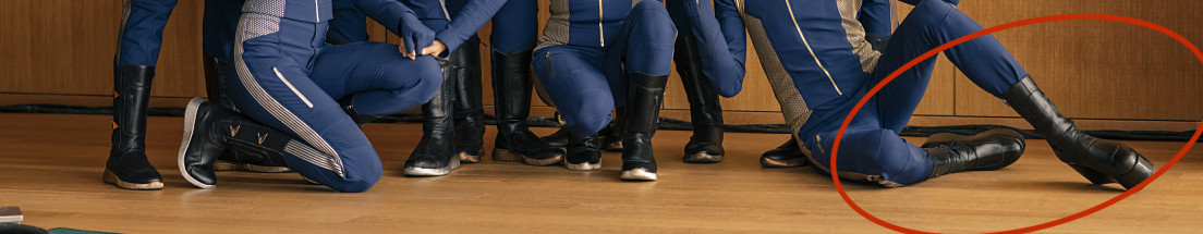 star trek discovery, cast, shoes