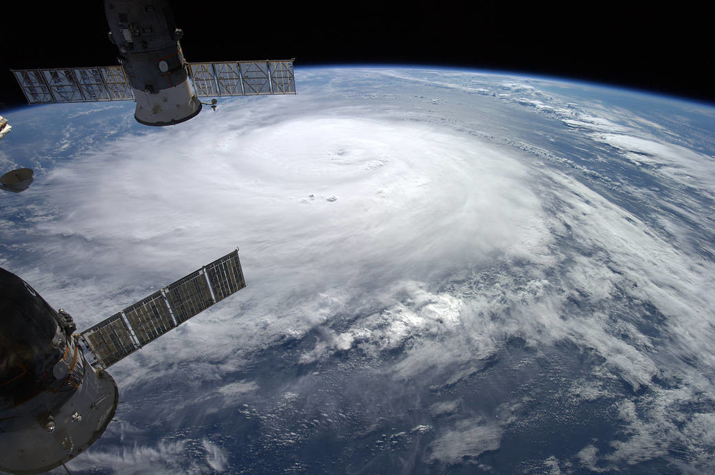 NASA image of hurricane from space