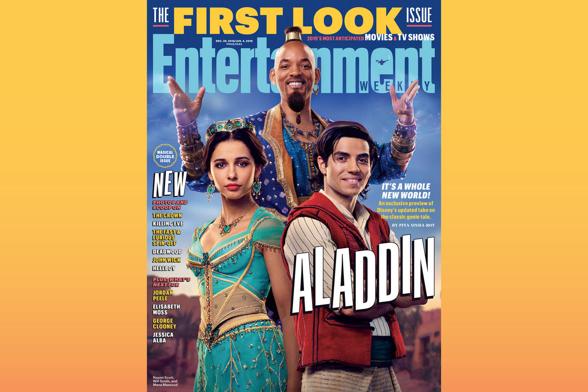 Live action Aladdin Entertainment Weekly cover