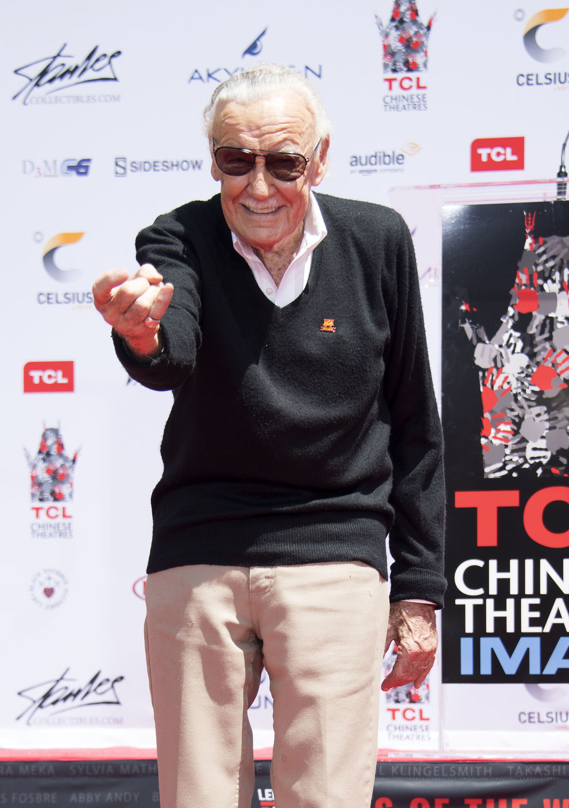 Stan Lee at Grauman's TLC Chinese theatre