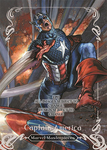 2018 upper deck marvel masterpieces captain america