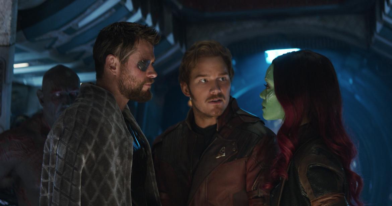 Thor, Gamora, Star-Lord Avengers: Infinity War