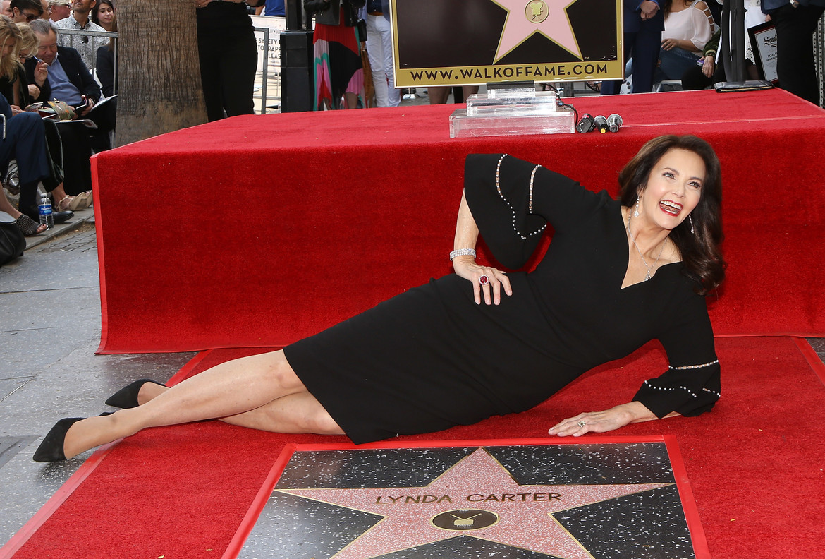 Lynda Carter Honored With Star On The Hollywood Walk Of Fame