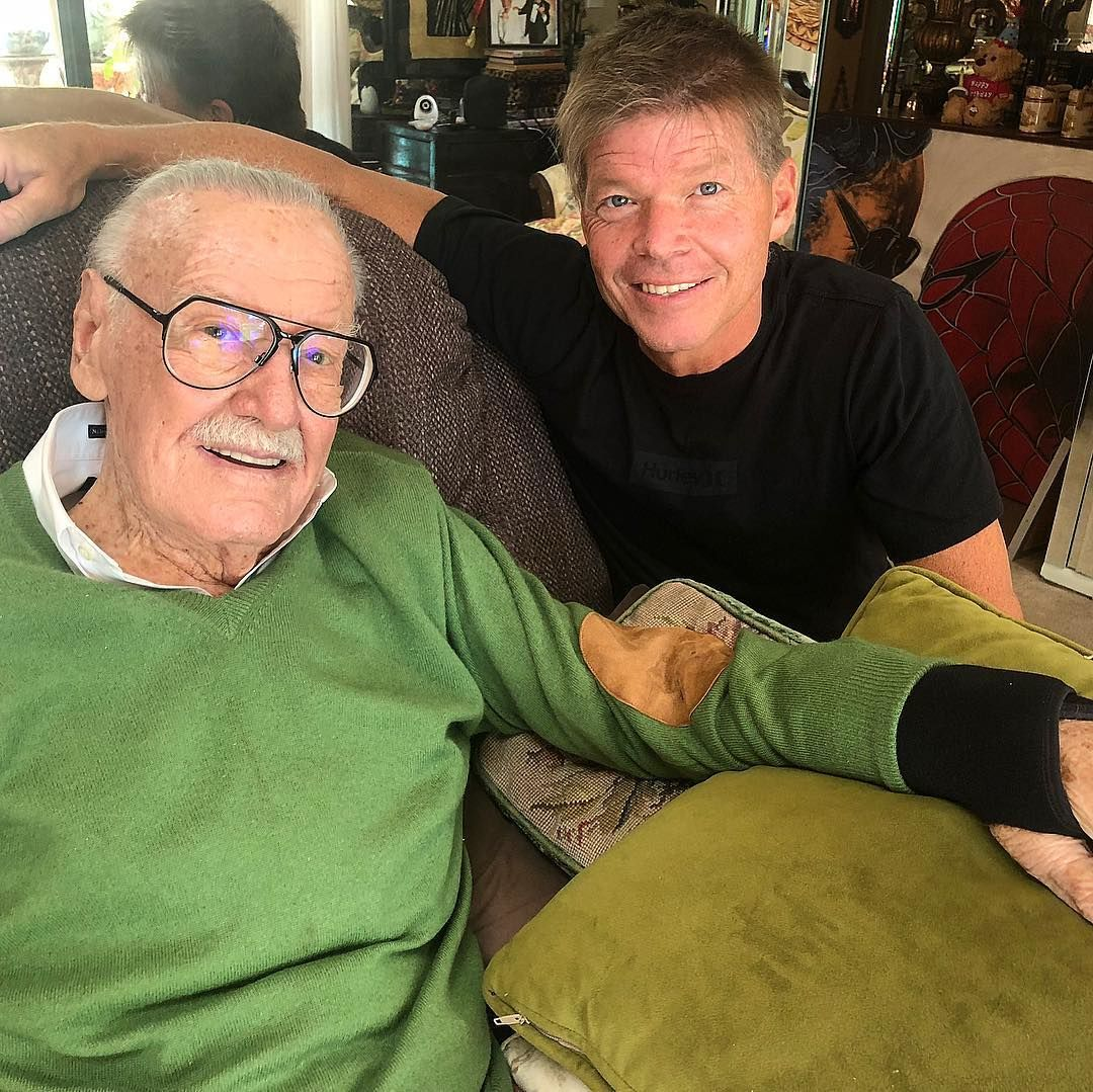 Stan Lee and Rob Liefield from Liefeld's Instagram