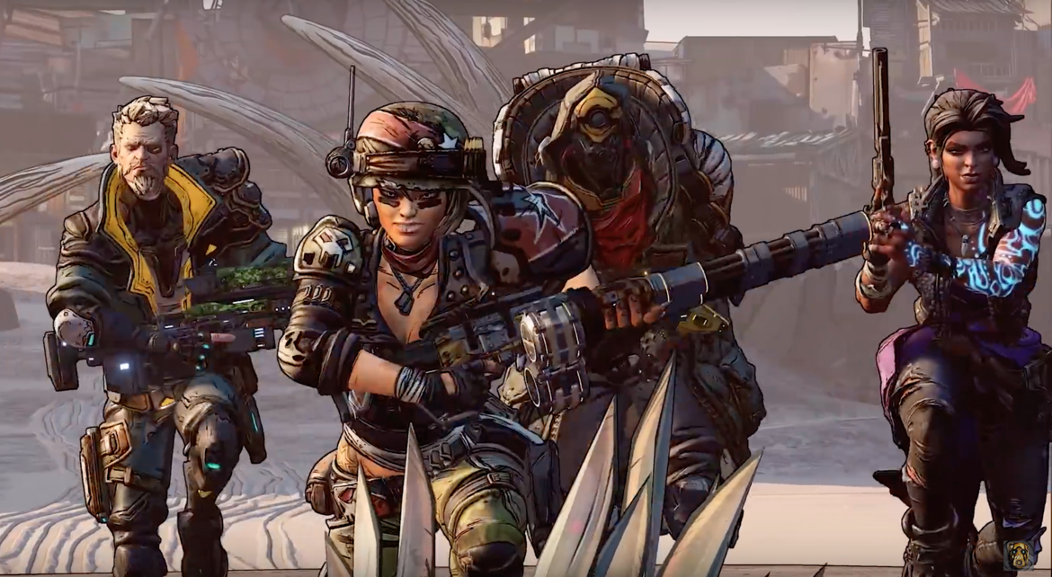 The four playable characters of Borderlands 3