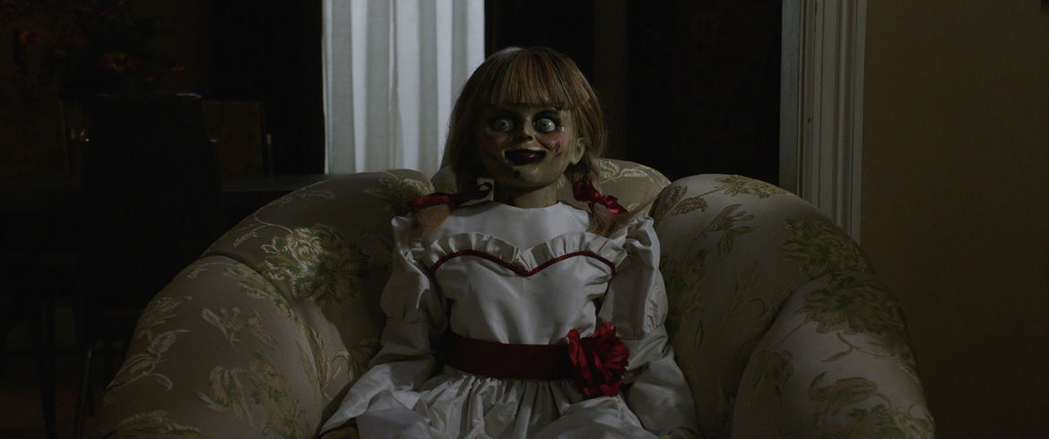 The Annabelle doll in Annabelle Comes Home