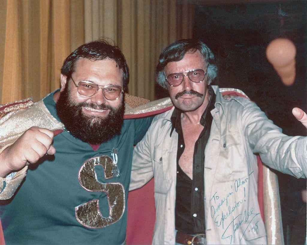 Stan Lee with a fan, Alan Light in 1973