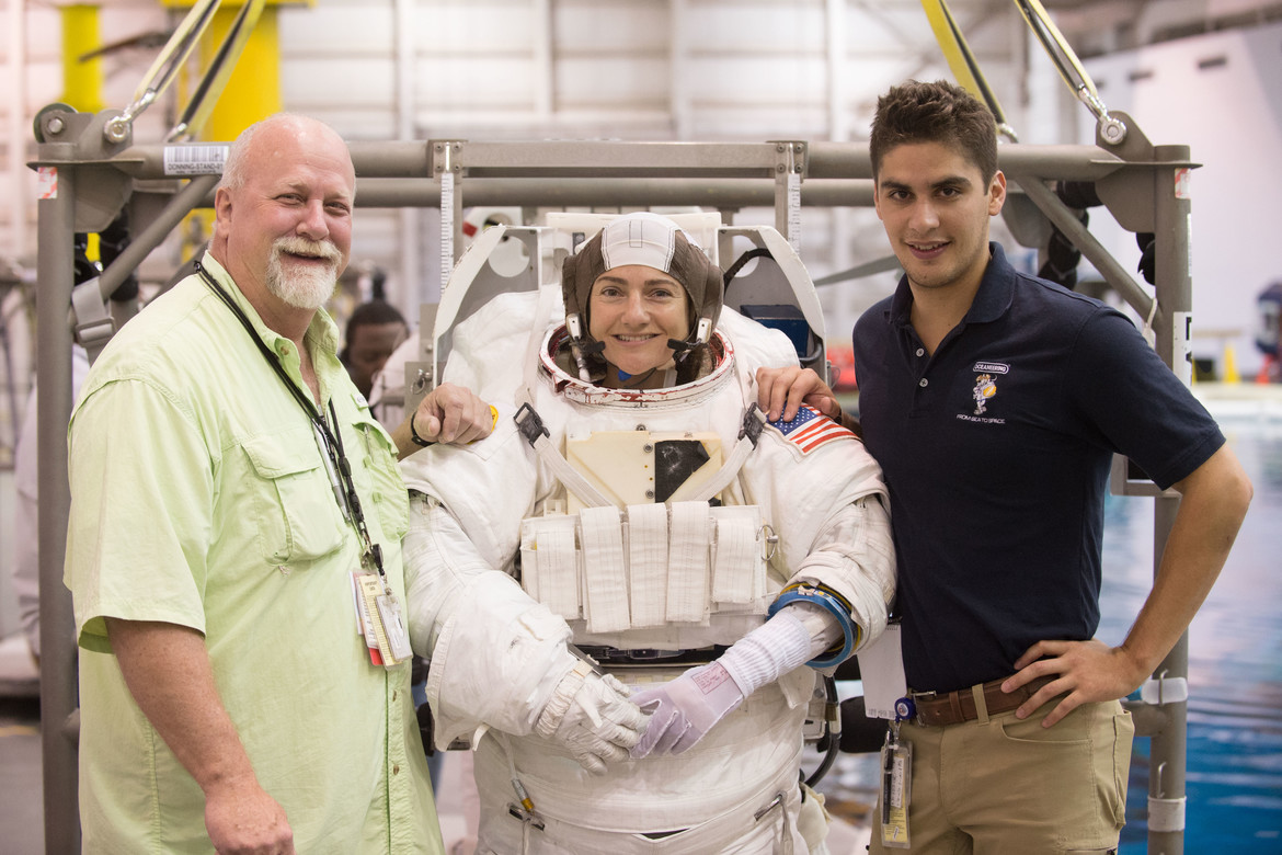 Astronauts Victor Glover and Jessica Meir