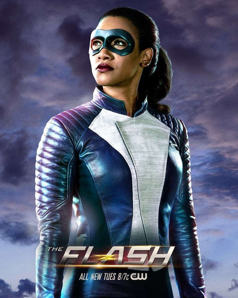 Candice Patton The Flash suited up
