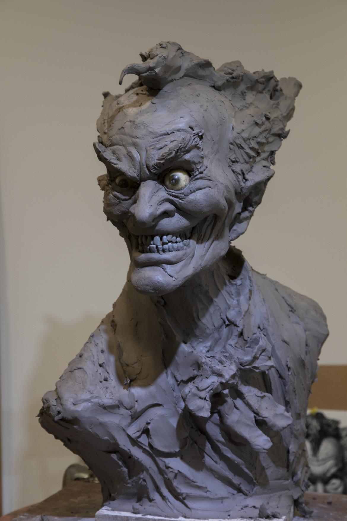 Joker bust mold rick baker