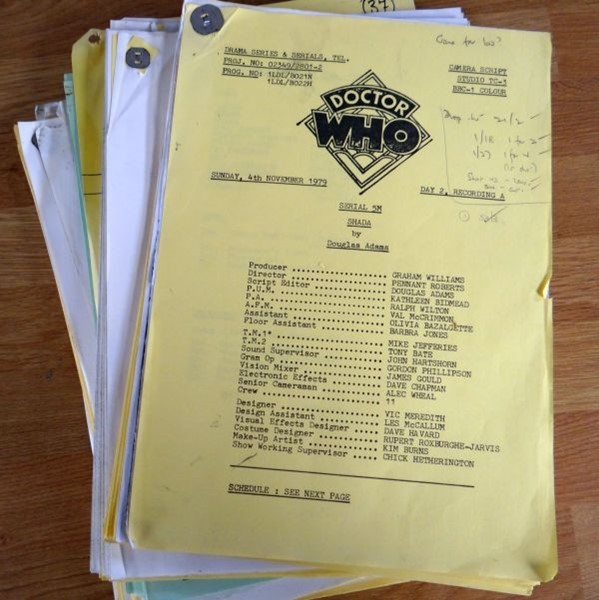 Shada Doctor Who scripts