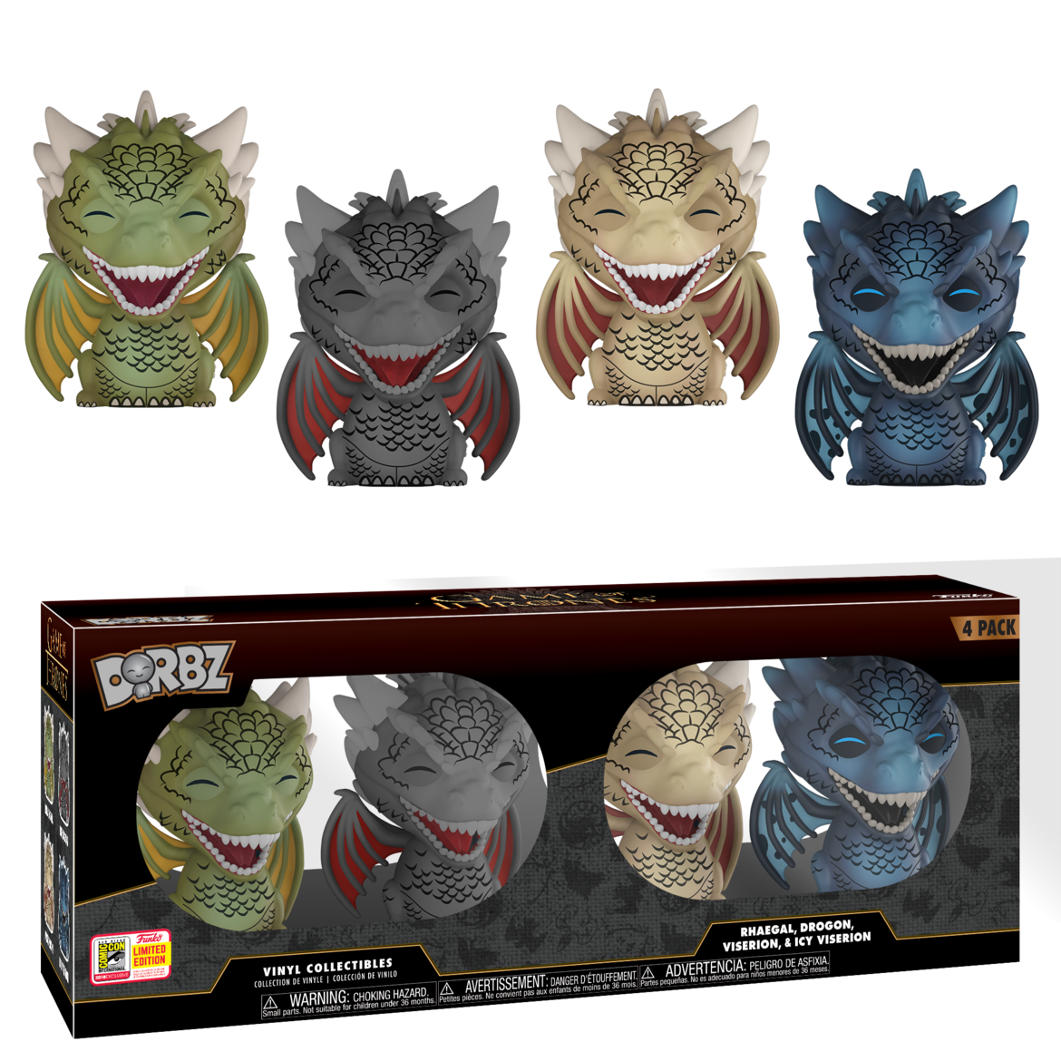 Game of Thrones Dragons Dorbz