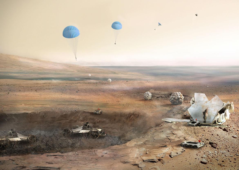 Foster + Partners Mars habitat concept
