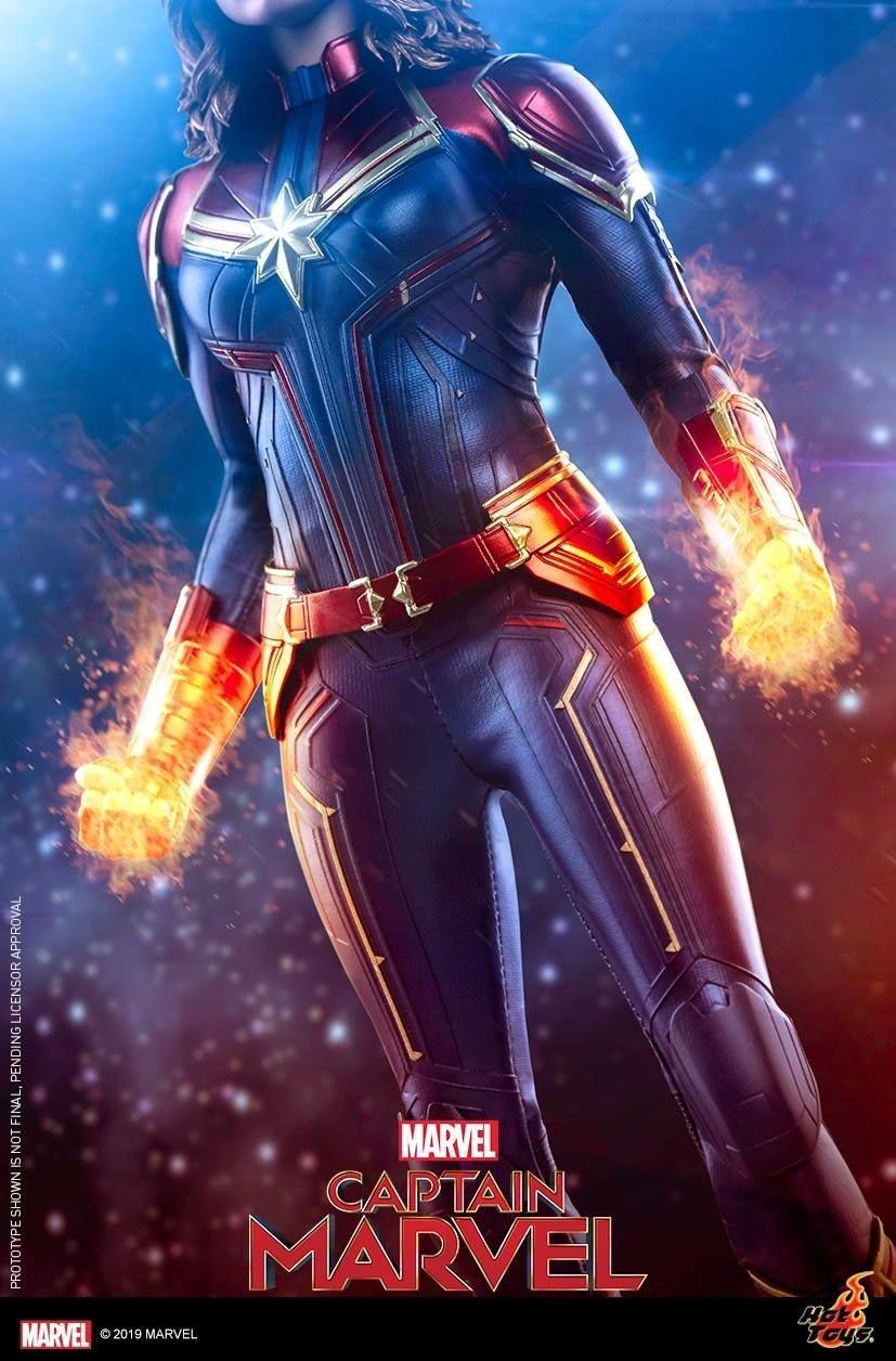 hot toys captain marvel teaser
