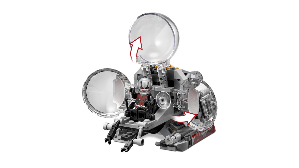 Ant-Man and the Wasp LEGO ship close-up