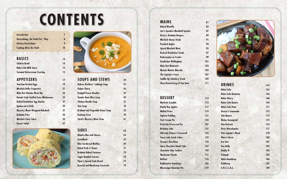 Fallout Cookbook Table of Contents