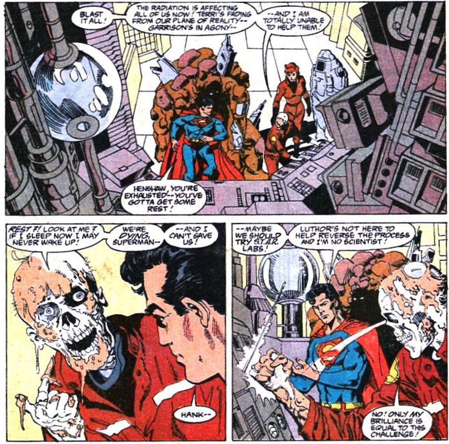 Adventures of Superman #466 (Art and layouts by Dan Jurgens, Finishes by Dick Giordano)