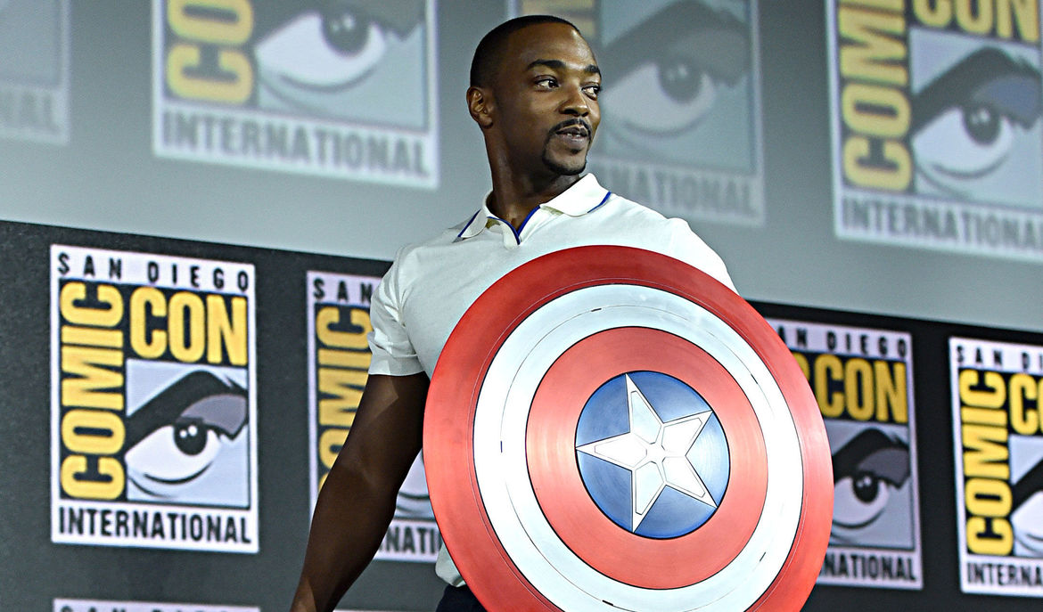 Image result for anthony mackie at winter soldier comic con