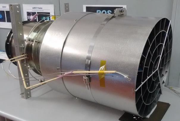 A new type of air-breathing thruster collects air in the upper atmosphere (the collector is on the right), ionizes it, and throws it out the back (left) to achieve thrust. Credit: ESA/Sitael