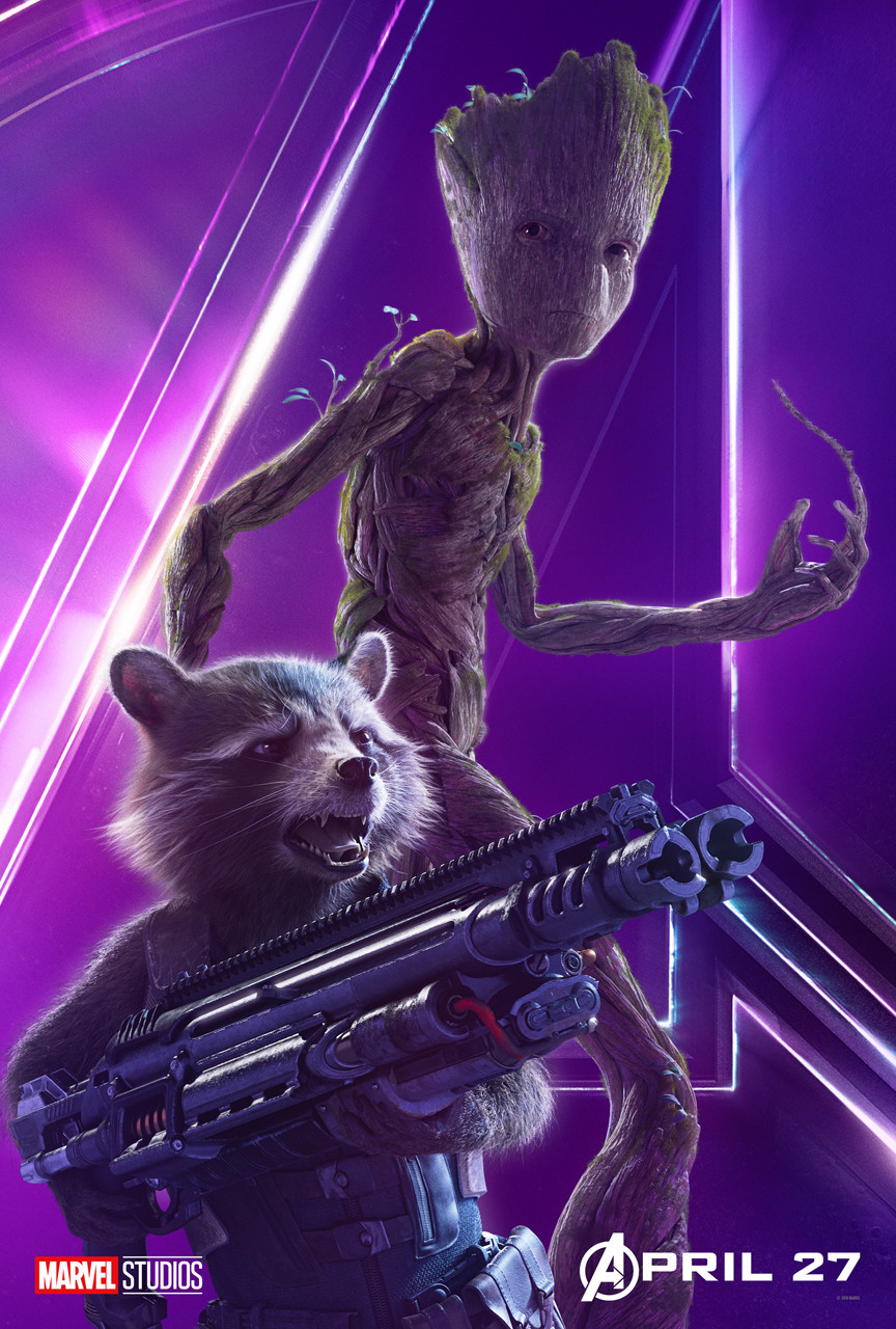 Avengers: Infinity War poster - Groot and Rocket