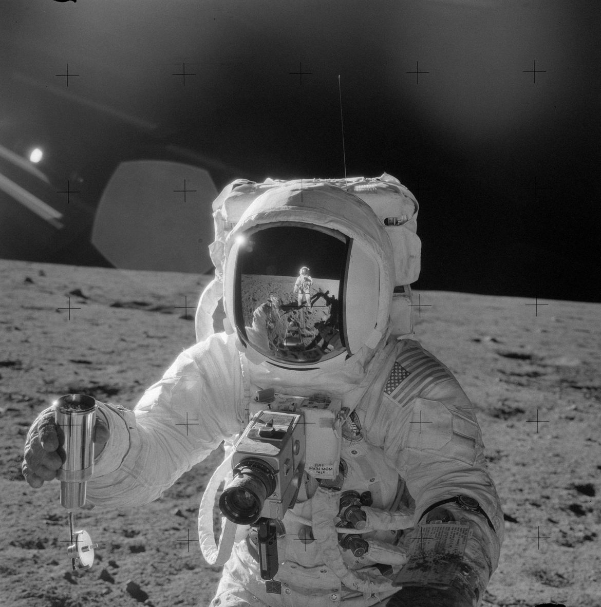 Apollo 12 astronaut Al Bean standing on the Moon. Credit: NASA