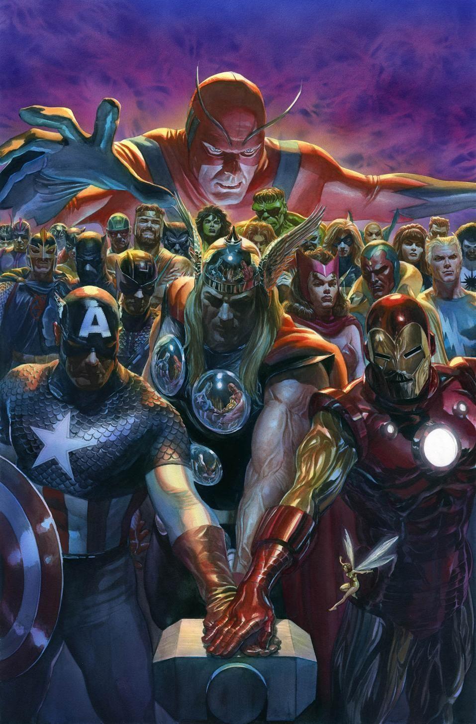Alex Ross C2E2 Avengers Litho