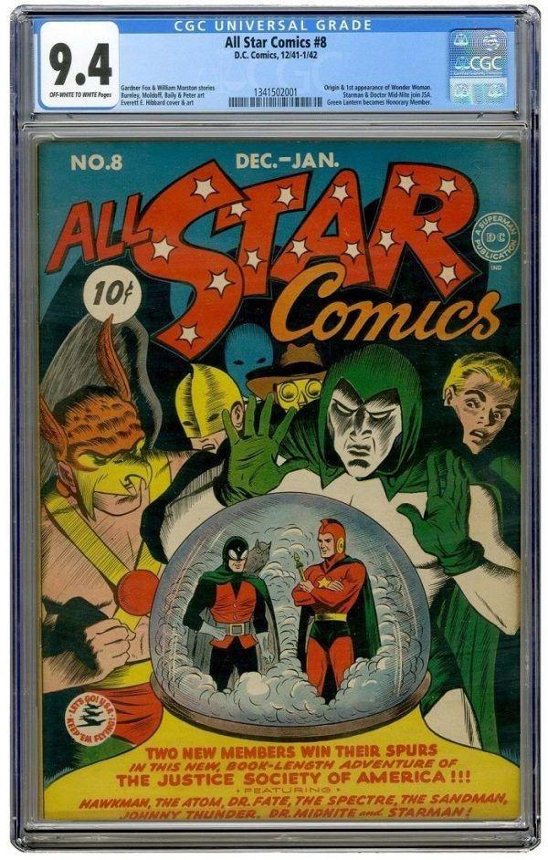 all star comics #8 wonder woman
