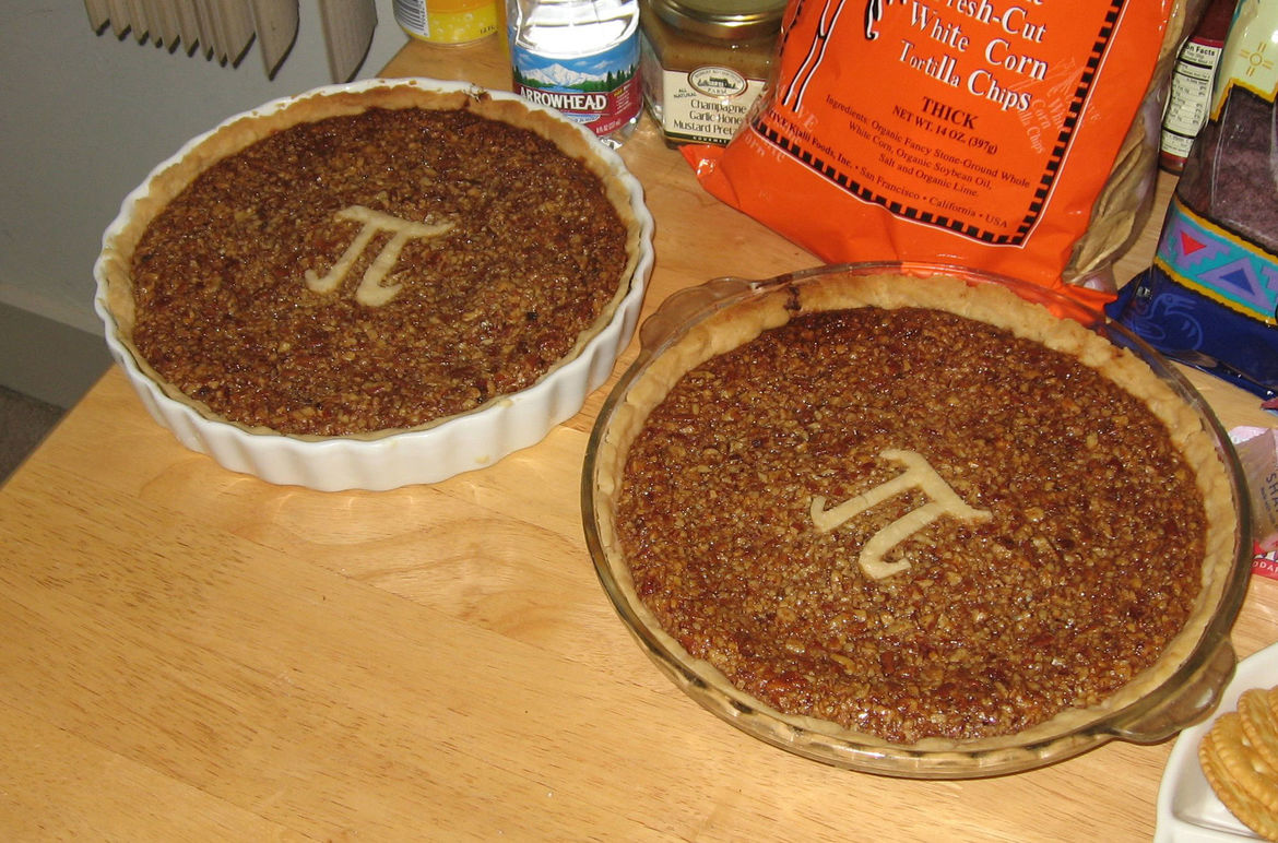 2 pie are round. Credit: AmitP on Flickr