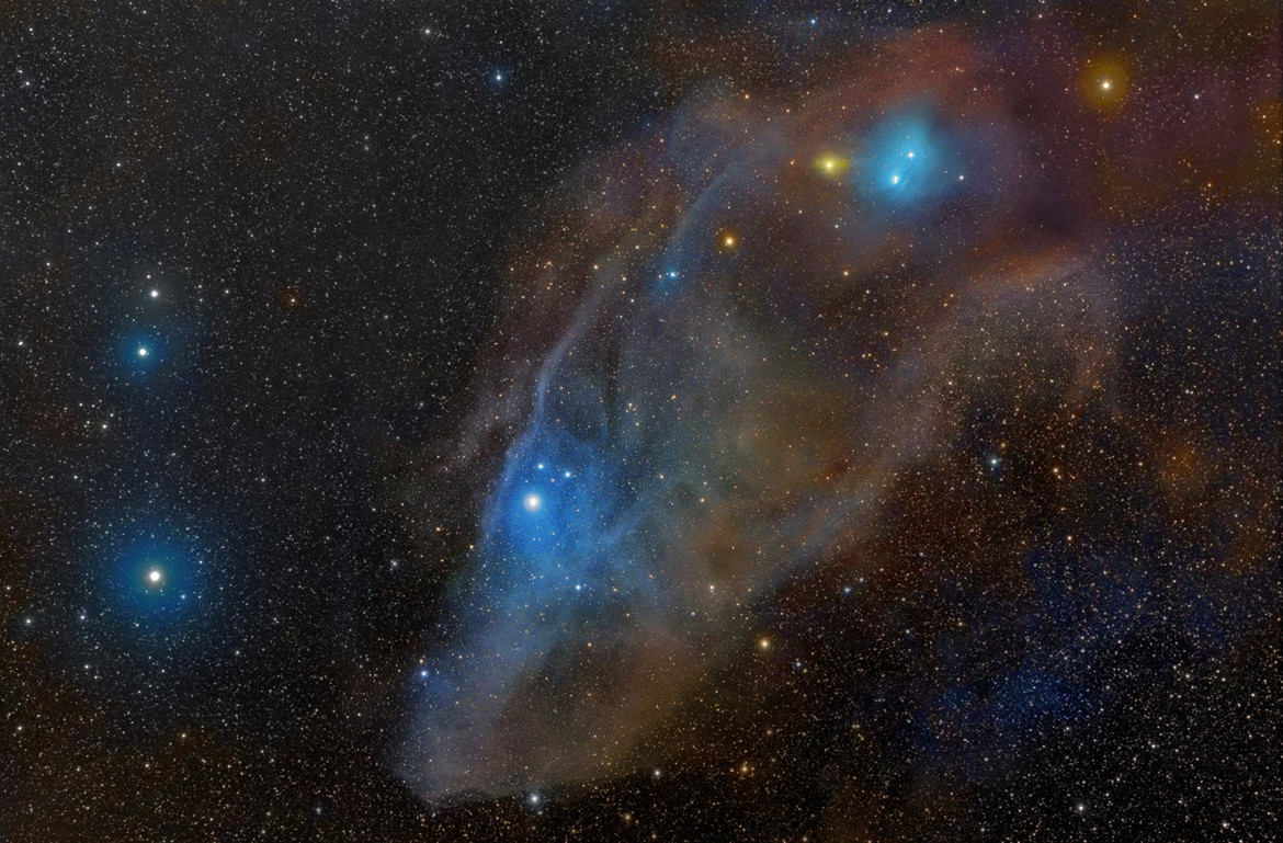 IC 4592, the Blue Horsehead Nebula: A beautiful and definitely equine reflection nebula in Scorpius. Credit: Rogelio Bernal Andreo