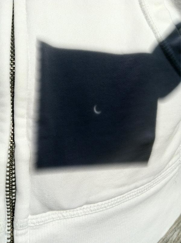 pinhole projection of an eclipse