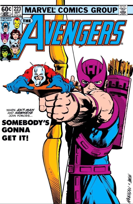 Avengers Ant-Man on Hawkeye arrow