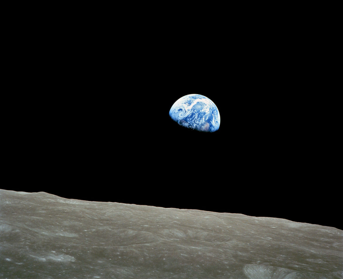 One of the most famous and important photographs ever taken from space: Earthrise, by Apollo 8 Lunar Module Pilot Bill Anders on December 24, 1968. Credit: NASA